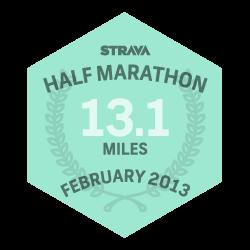 February 2013 Half Marathon