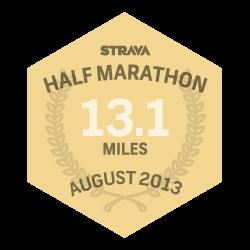August 2013 Half Marathon logo