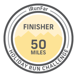 The iRunFar 50 Mile Holiday Challenge