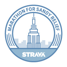 Marathon for Sandy Relief logo
