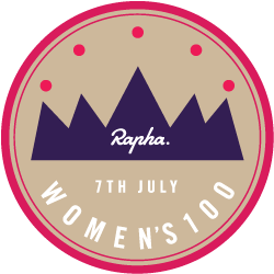 Rapha Women's 100 logo