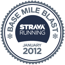 Strava Run Base Mile Blast logo