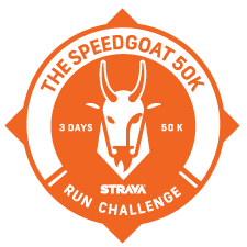 The Speedgoat 50k Challenge logo