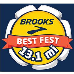 Brooks Best Fest Half Marathon logo