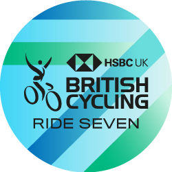 The British Cycling Ride Seven Challenge logo