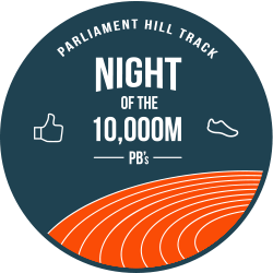 Night of the 10,000m PBs logo