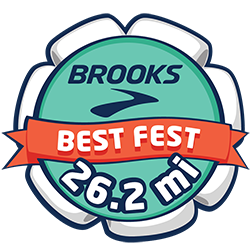 Brooks Best Fest Marathon logo
