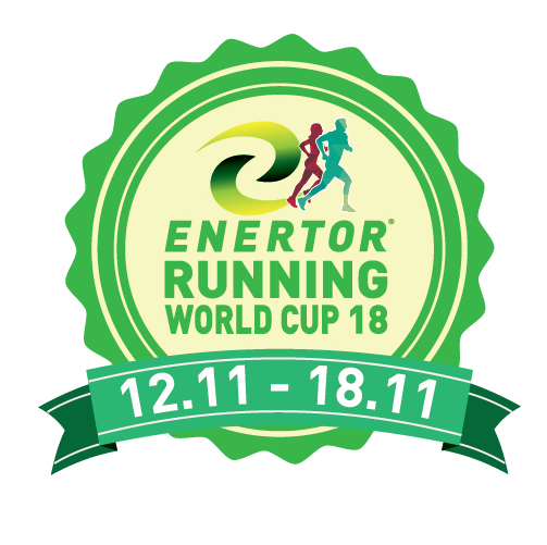 The Enertor Running World Cup 2018 logo
