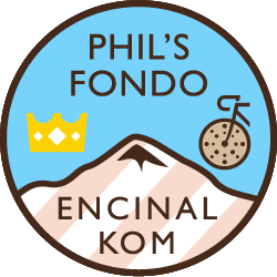 Phil's Cookie Fondo: Encinal Hill Climb logo