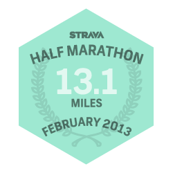 February 2013 Half Marathon