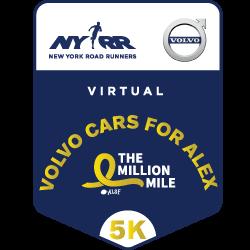 Virtual Volvo Cars for Alex Million Mile 5K
