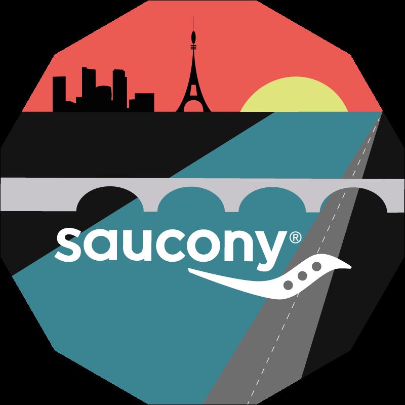 Boardwalk on fire, by Saucony logo