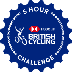 The British Cycling Ride Five Challenge logo