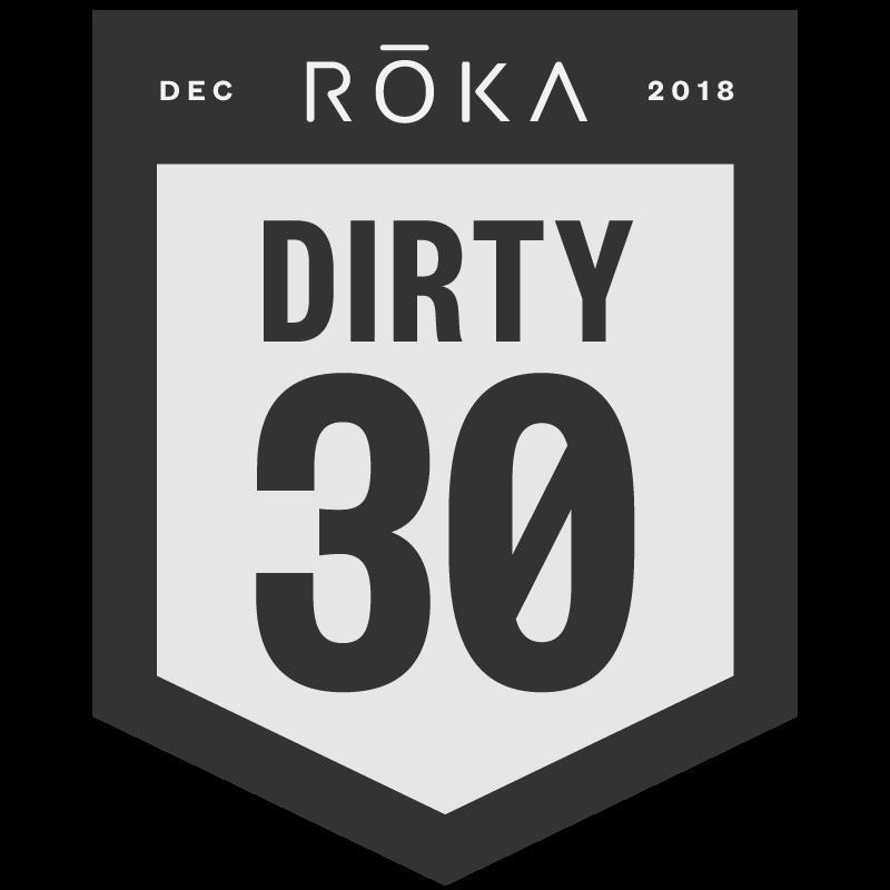 The ROKA Dirty 30 logo