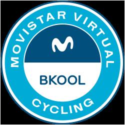 Movistar Virtual Cycling, powered by Bkool logo