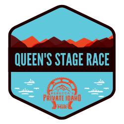 Rebecca's Private Idaho Queen's Stage Race 196M logo