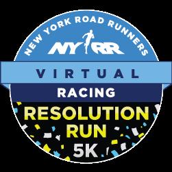 NYRR Virtual Resolution Run 5k logo