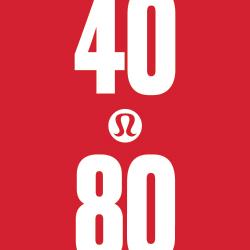 lululemon 40|80 Challenge logo