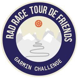 Garmin x RAD RACE Tour de Friends 2019 logo