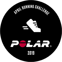Polar April 2019 Running Challenge logo