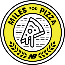 The New Balance Miles for Pizza Challenge logo