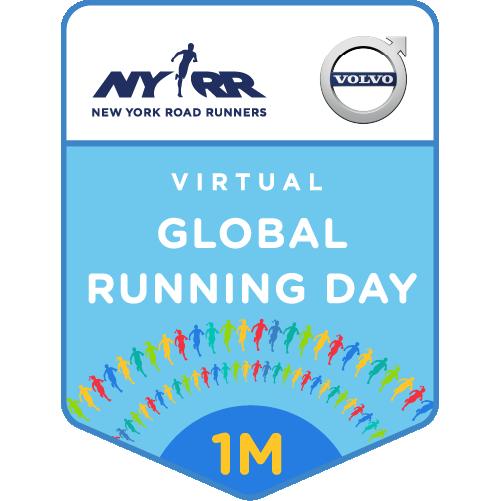 Virtual NYRR Global Running Day 1M logo