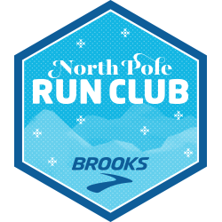 Brooks North Pole Run Club Challenge logo