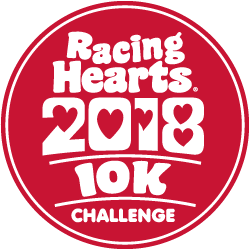 Racing Hearts 10k logo