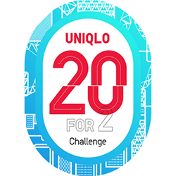Logotipo de Uniqlo 20 for 2 Challenge