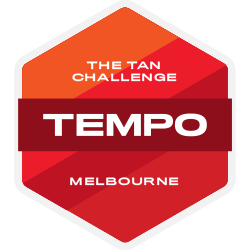 TEMPO Journal x The Tan Challenge logo
