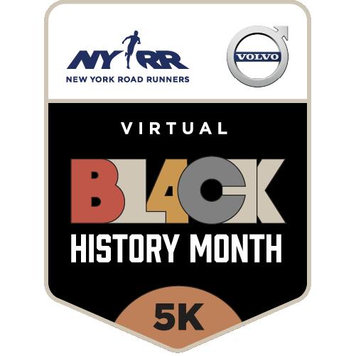 Virtual NYRR Black History Month 5K logo