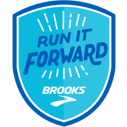 Run it Forward with Brooks logo