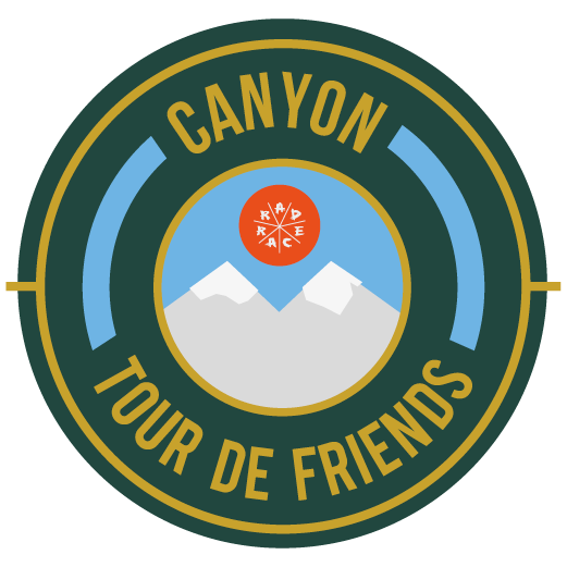 Canyon x RAD RACE Tour de Friends 2018 logo
