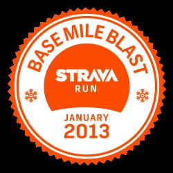 Strava Run Base Mile Blast logo