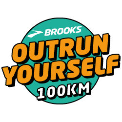 Brooks Outrun Yourself logo
