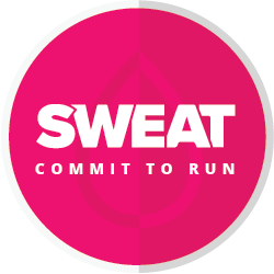 The SWEAT Commit to Run Challenge logo