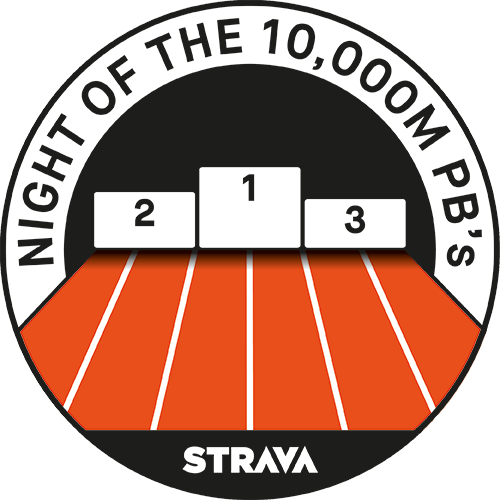 Night of the 10,000m PB's Race logo