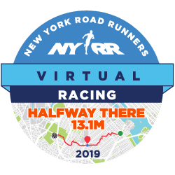 NYRR Virtual Halfway There 13.1M logo