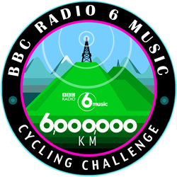 Cycle 6 Million for BBC 6 Music logo