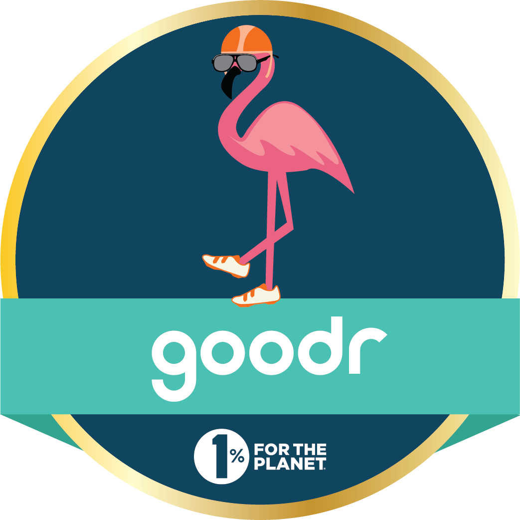The 1% goodr for the Planet Challenge logo