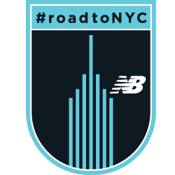 The New Balance #RoadToNYC 26.2 Mile Challenge logo