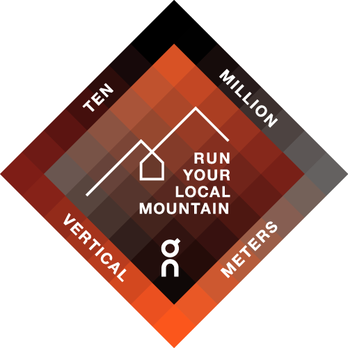 Run Your Local Mountain with On logo
