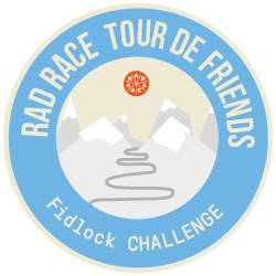 Fidlock x RAD RACE Tour de Friends 2019 logo
