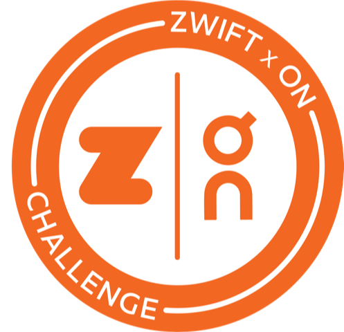 Zwift x On Valentine's Challenge logo
