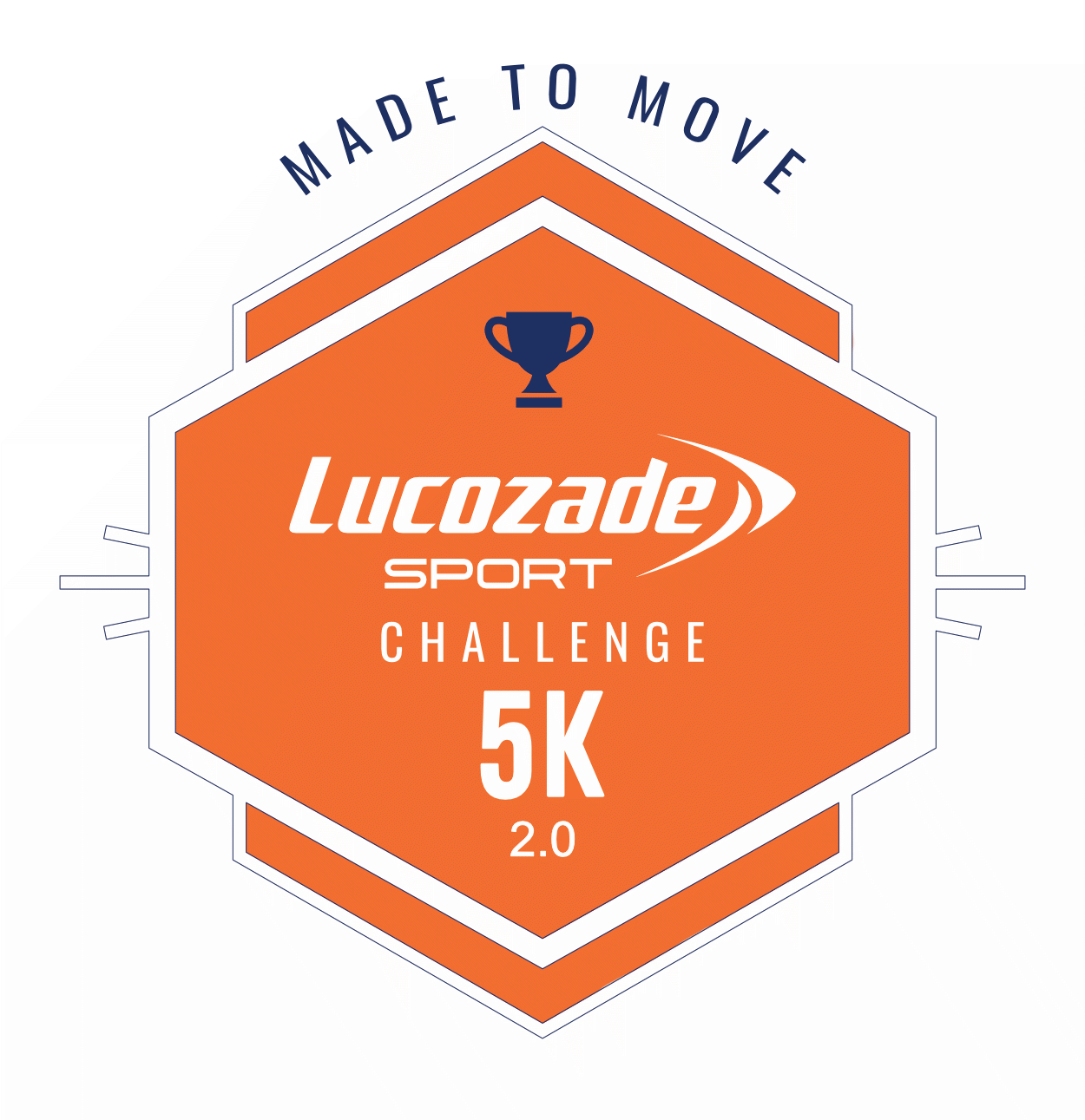 The Lucozade Sport #MadeToMove 2.0 Challenge logo