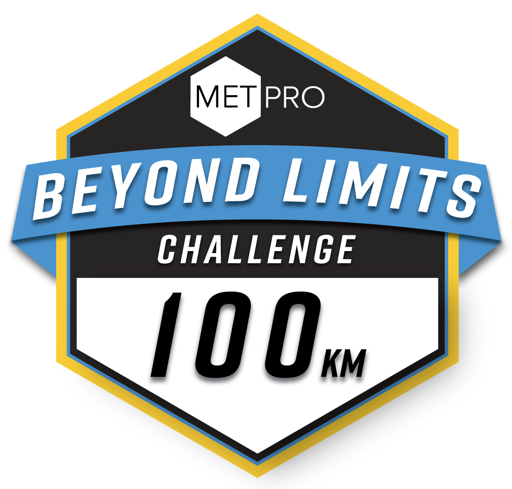 Beyond Limits 100km with MetPro logo