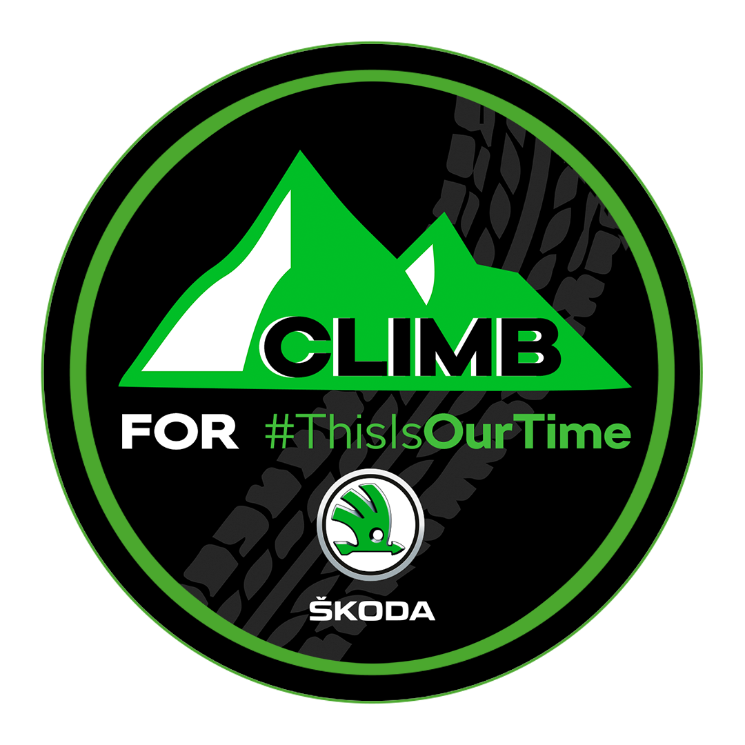 Climb for #ThisIsOurTime with ŠKODA logo