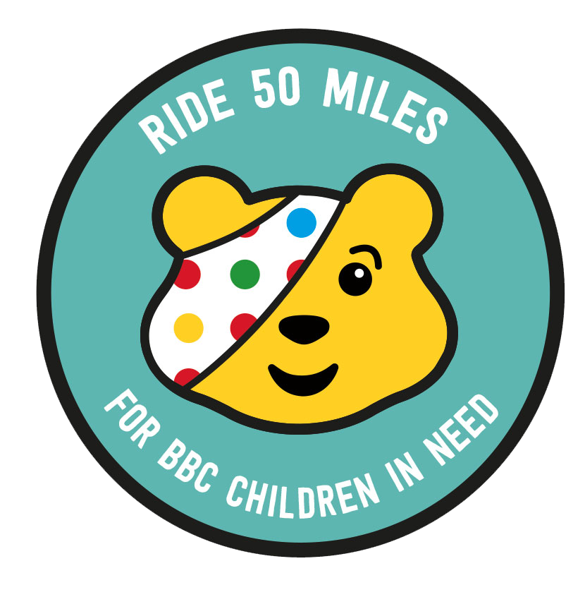 Ride 50 miles for BBC Children in Need logo