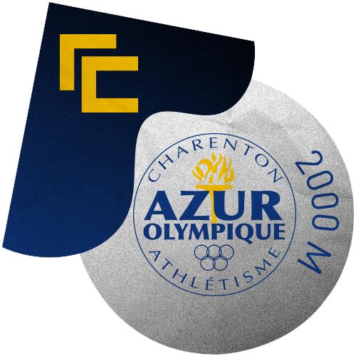 Rallye Club x L'Azur Olympique Charenton - 2000 M ⭕️ logo
