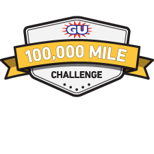 GU 100,000 Mile Challenge logo